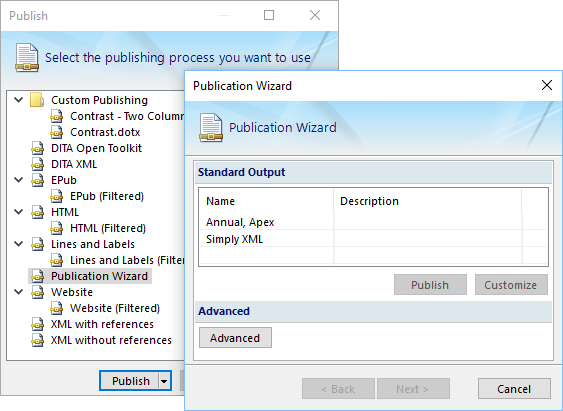 Publication Wizard